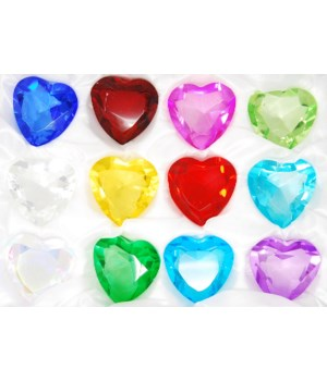 50MM Heart Diamonds 12PC display