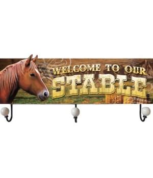 """*Horse coat rack 23.5"""" x 10"""""""