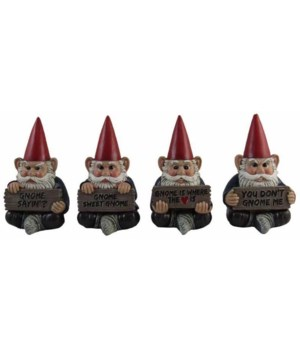"Gnome with Words 4/A 3.5""T 4PC set"