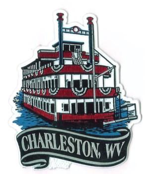 *Charleston, WV Banner Paddleboat magnet