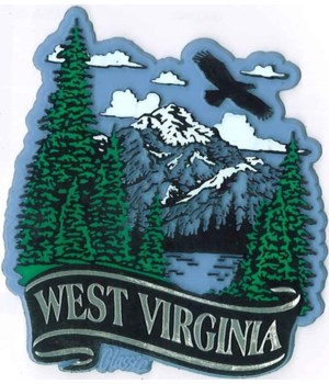 WV Mountain banner magnet