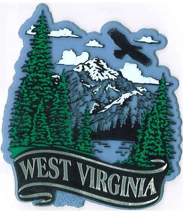 WV Mountain banner magnet