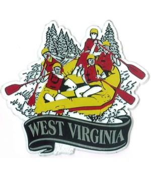 WV Whitewater banner magnet