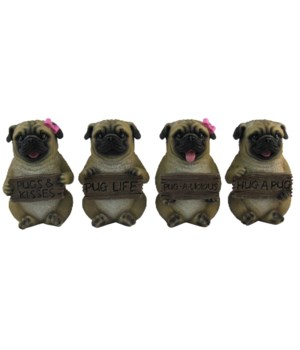 """Pugs (Mini Pugs) 4/A 4""""T"""
