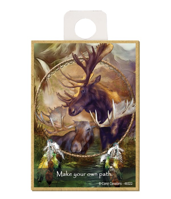 Moose  Make your own path. Wood magnet