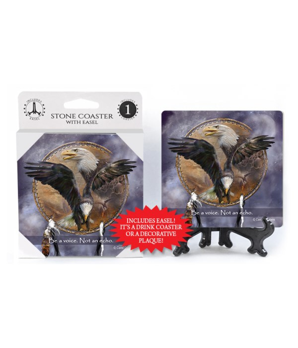 Eagle  Be a voice. Not an echo. 1 Pack Coaster