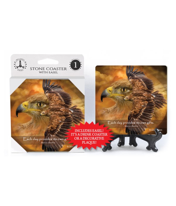 Falcon  Each day provides its own gifts.  Marcus Aurelius 1 Pack Coaster