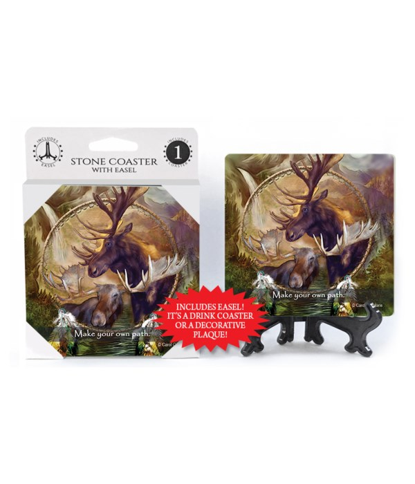 Moose  Make your own path. 1 Pack Coaster