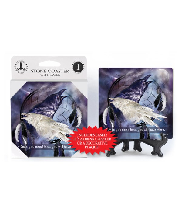 Ravens  Once you need less, you will have more. 1 Pack Coaster