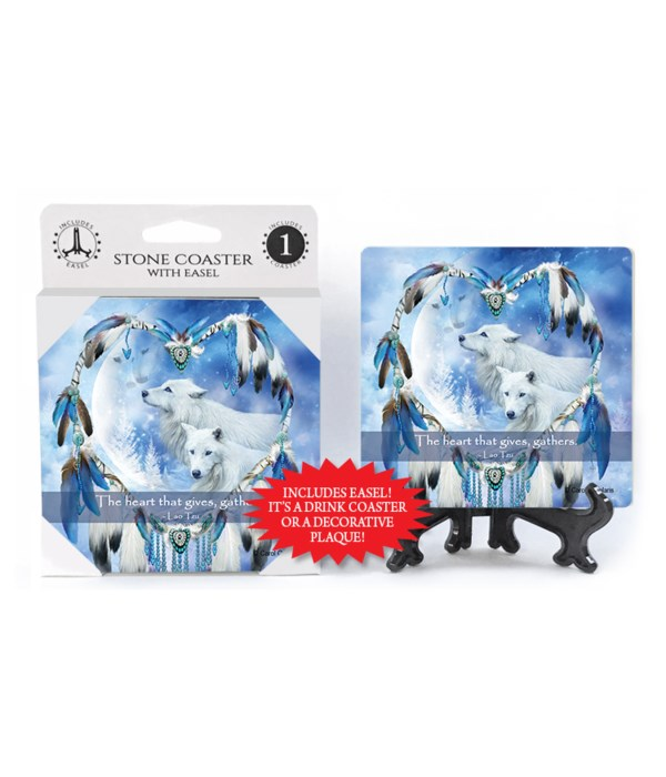 Wolves  The heart that gives, gathers.  Lao Tzu 1 Pack Coaster