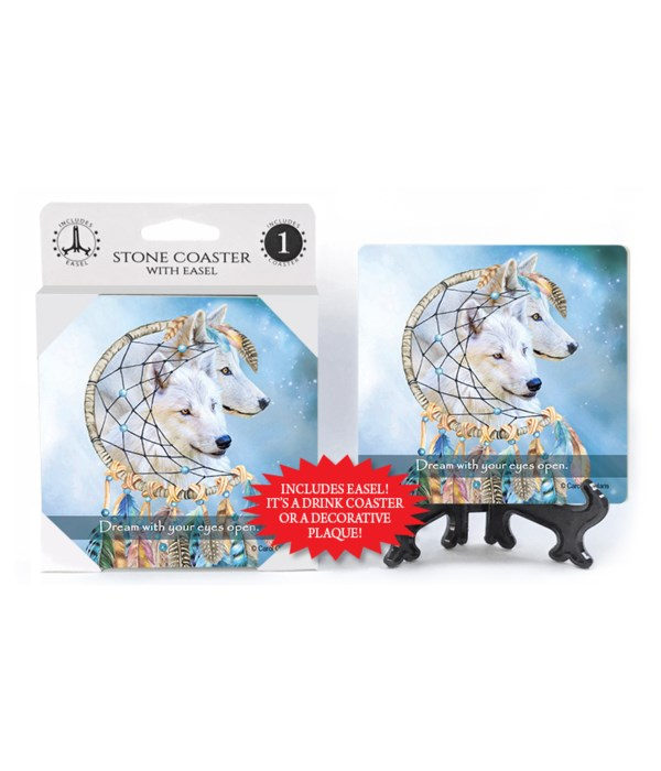 Wolves  Dream with your eyes open. 1 Pack Coaster
