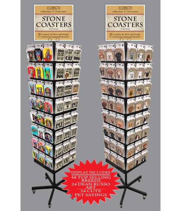 Assorted Pet Coaster Display 288PC