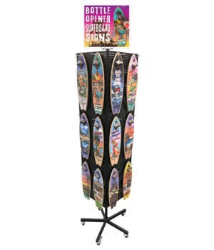Tropical Bottle Opener Surfboard Display 72PC
