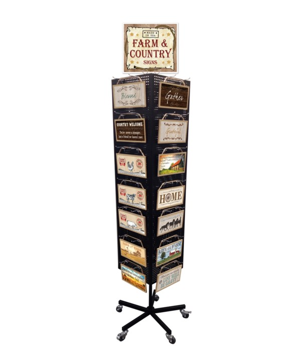 Farm & Country Sign Display 168PC