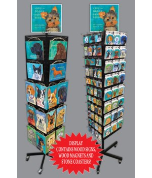 Dodge's Dogs 7x10.5 Sign, Magnet & Coaster Display 256PC