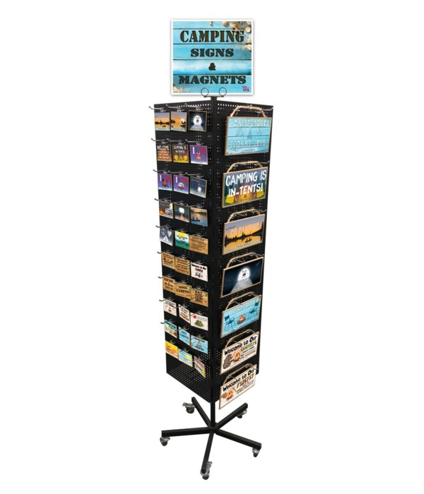 Camping-RV Beach Theme Sign & Magnet Display 246PC