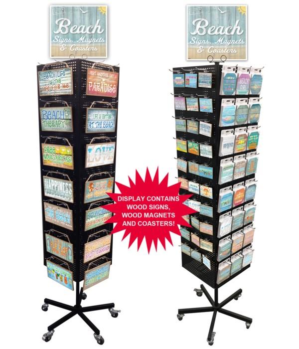 Beach-Whitewash Sign, Magnet & Coaster Display 234PC