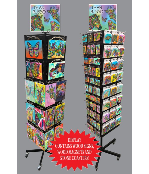 Wildlife Dean Russo Sign, Magnet & Coaster Display 256PC