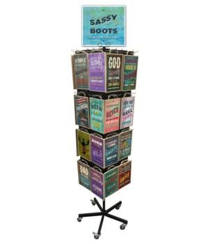 Sassy Boots Sign 7x10.5 Display 128 PCS