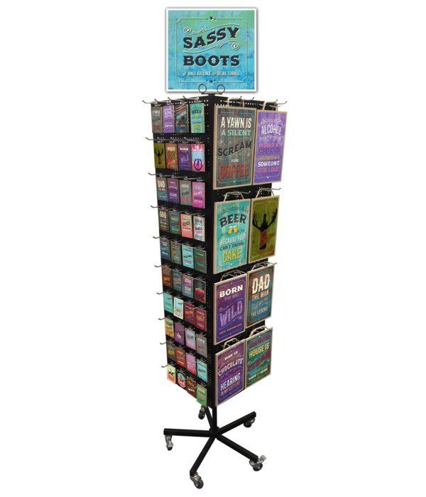 Sassy Boots 7x10.5 Sign & Magnet Display 216PC