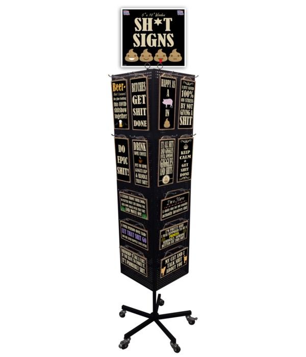 Sh*t Signs Display 5x10 168PC