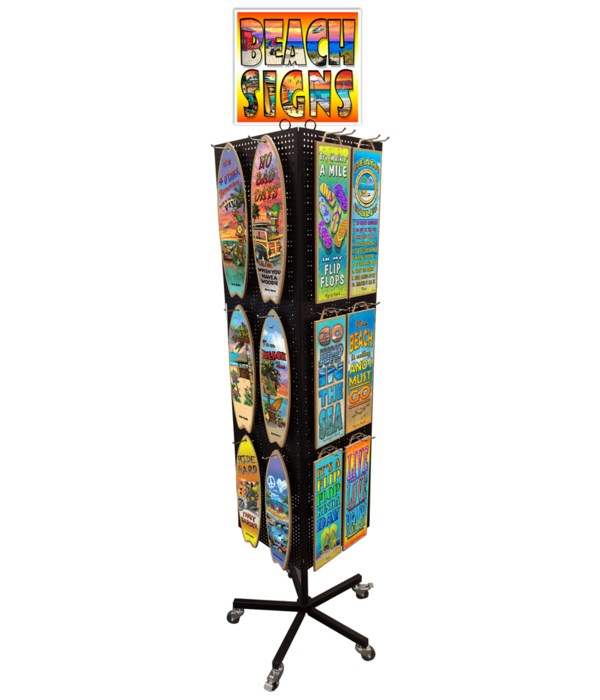 Tropical (Messina) Sign & Surfboard Combo Display 120PC