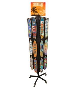 Surfboard Assortment Display