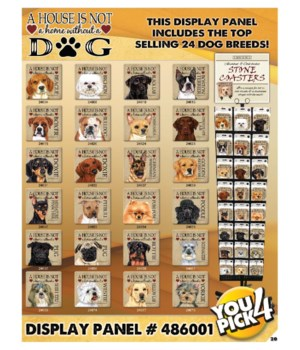 House Dog top 24 Asst 3 EA Coasters