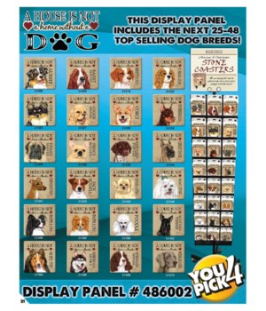 House Dog top 24-48 Asst 3 EA Coasters