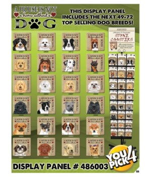 House Dog top 49-72 Asst 3 EA Coasters