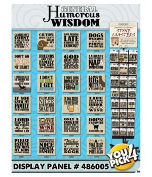 Humorous Wisdom 24 Asst 3 EA Coaster