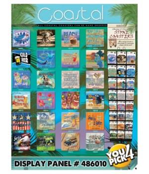 Beach JQ License 24 Asst 3 EA Coaster