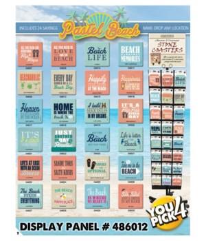 Pastel Beach 24 Asst 3 EA Coaster
