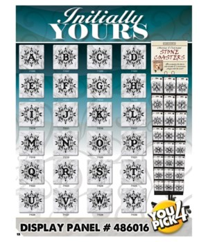 Initially Yours Marble Look Coaster 24x3