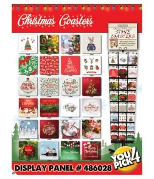 Christmas Coaster 24 Asst. x 3EA