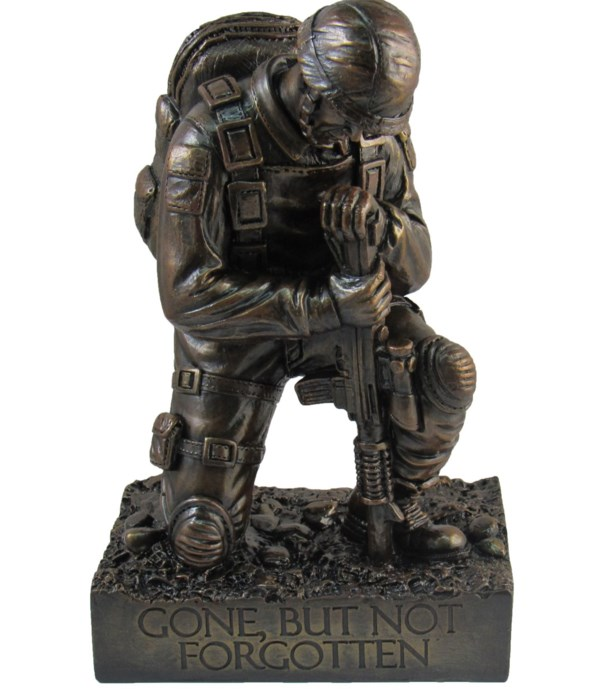 """Silent Salute (soldier)- 8.5"""" tall"""
