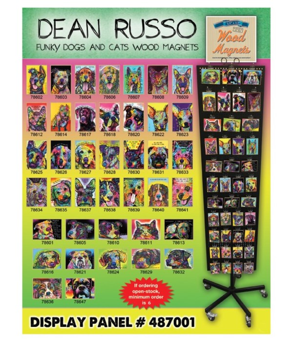 Dean Russo Wood Magnet Display Panel 40 Asst / 120PC