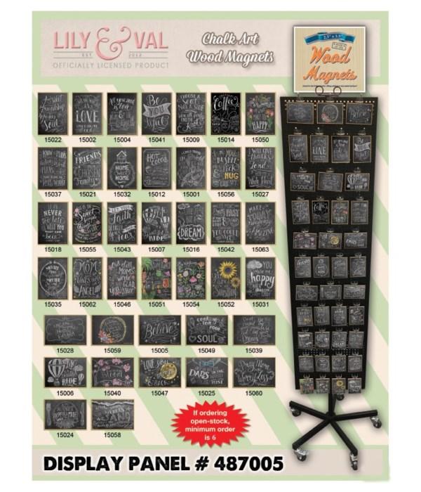 Chalk Art Magnet Display Panel 40 Asst / 120PC