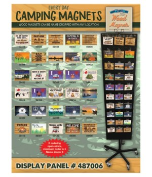 "Camping ""Everyday"" Magnet Panel / 120 PC"
