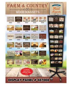 Farm & Country Magnets 30 Asst / 120PC
