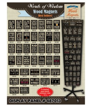 Words of Wisdom Magnet Panel / 120 PC