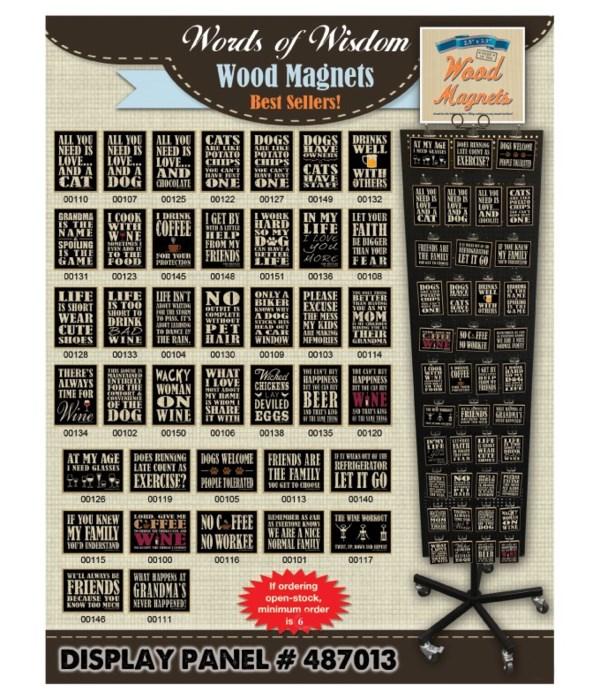 Words of Wisdom #1 Wood Magnet Display Panel 40 Asst / 120PC