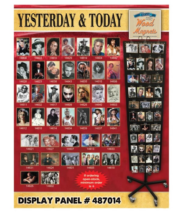 Yesterday & Today Wood Magnet Display Panel 40 Asst / 120PC