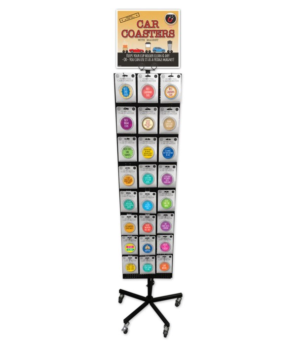 Humorous Car Coasters 24 Asst / 72PC