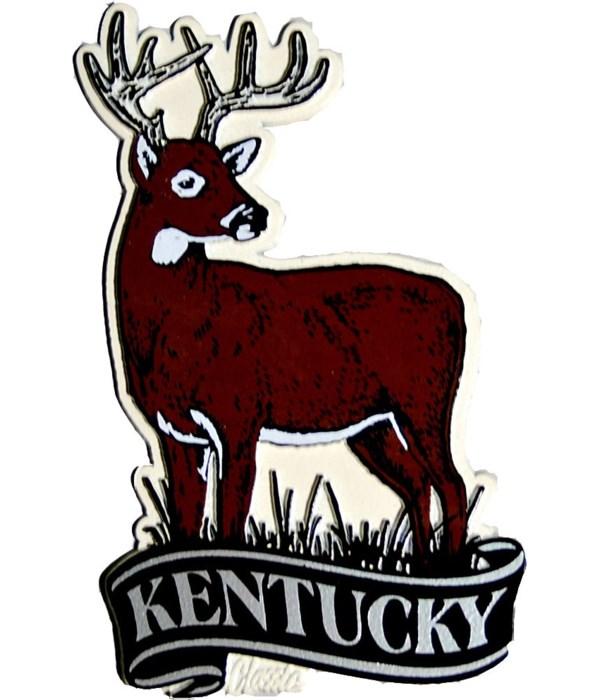 Kentucky Deer banner magnet