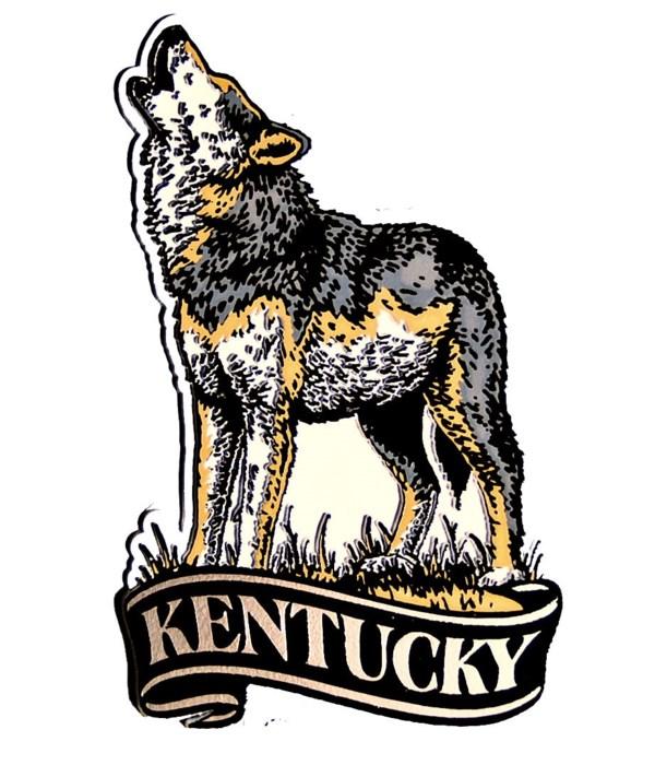 Kentucky Wolf banner magnet