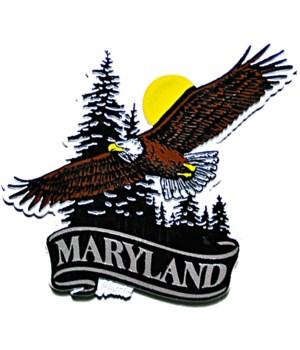 Maryland Eagle banner magnet