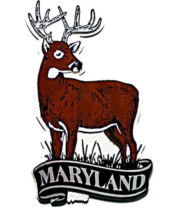 Maryland Deer banner magnet