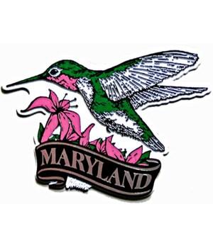 Maryland Hummingbird banner magnet