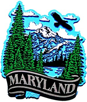 Maryland Mountain banner magnet